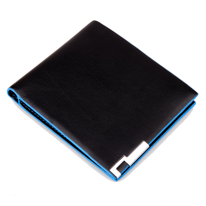 2014 New Fashion Brand Wallet Men Wallet Pu Leather Man Waterproof Billfold Colorful Men Purses Blue Card Holders For Men(China (Mainland))