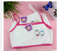 Promotion children's underwear Training Bras kids underwear Cartoon student's Bras wholesale retail free shipping for girls