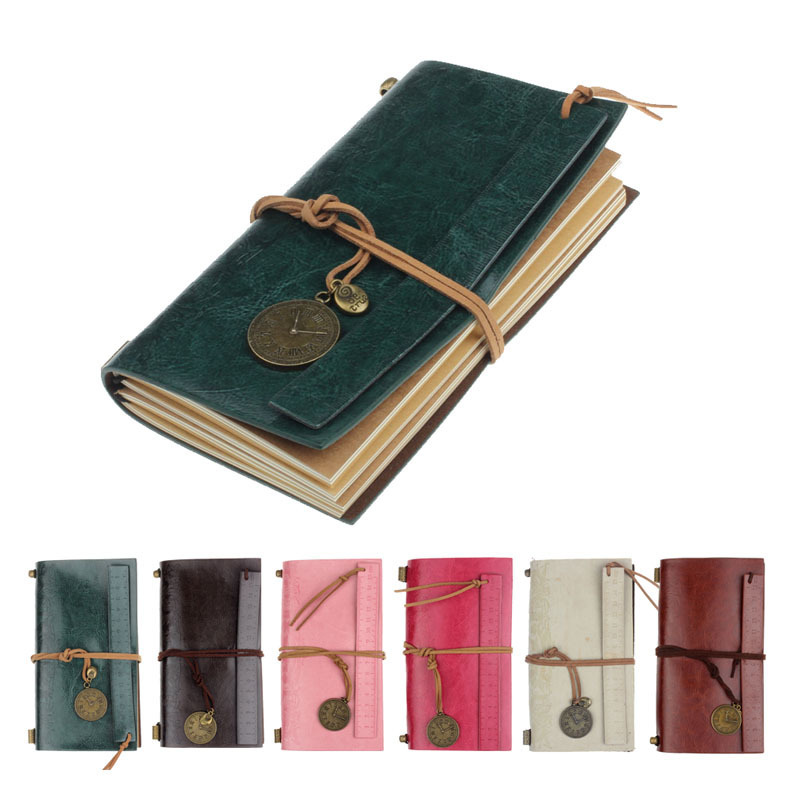 Classic Vintage Leather Bound Blank Pages Journal Diary Notebook(China (Mainland))