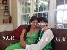 Discounted 2014 Sweetheart Prom Dresses Crystal Luxury Evening Formal Girl For Party Pageant Gowns Floor Length
