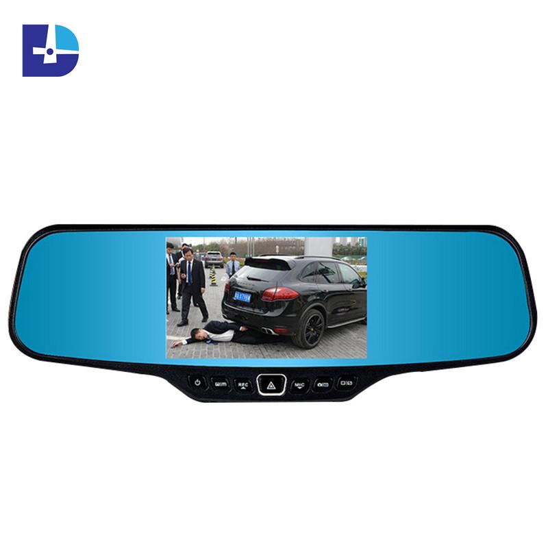 Hot 4.3 inch rearview mirror car camera full hd 1080p night vision car dvr video recorder 170 wide angle vehicle Blackbox DVR(China (Mainland))