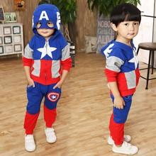 Marvel Comic Classic  Captain America Child Costume, Kids boys fantasia Halloween fantasy superhero carnival baby boy clothes(China (Mainland))