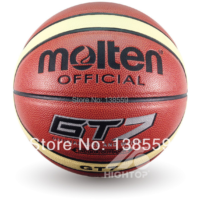 NEW Brand Hight Quality Genuine Molten GT7 Basketball Ball PU Materia Official Size7 Basketball Free With Net Bag+ Needle+Pump(China (Mainland))