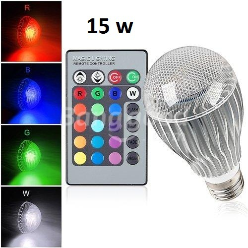 New arrival LED RGB Bulb E27 9W 15W Remote Control Color Changing LED Wall Light Bulb RGB 16 Color Lamp AC 85-265V(China (Mainland))