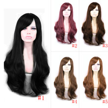 65cm Soft Degre Hair Sexy Fashion Long Wave Lady's Synthetic Hair Wig Full Lace Cosplay Wig Gift HB88(China (Mainland))