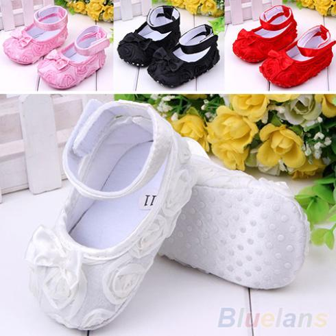 Girl Baby Shoes Crib Comfortable AntiSlip Sandal Princess Toddler 0 18 months 1MCO