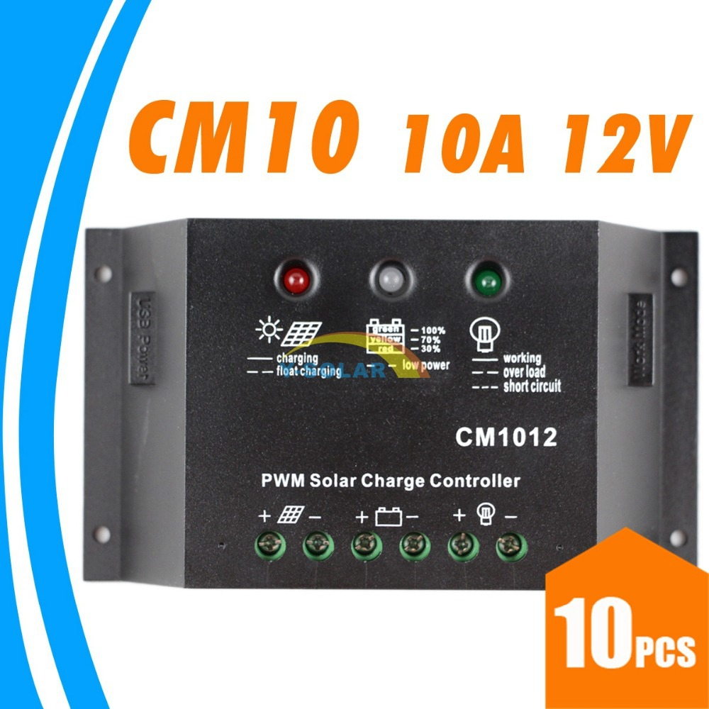 10PCS 10A 12V Solar Charge Controller CM1012 PWM Solar Controller with timers JUTA CM 1012Z solar battery charge controller 12V<br><br>Aliexpress