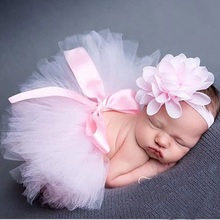 New baby tutu skirt photography prop and hair accessories Kids solid clothings Fashion toddle chiffon ball gown HB356
