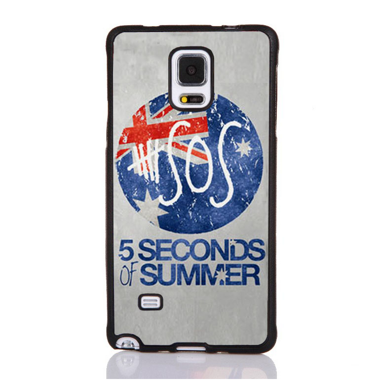 5 SECONDS OF SUMMER UK Flag Printed Soft Rubber Mobile Phone Cases For Samsung S4 S5 S6 S7edge Note 3 Note 4 Note 5 Cover Shell(China (Mainland))