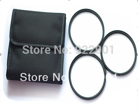 3pcs/lot 62mm Star cross Kit +4+6+8 filter set, 4PT+ 6PT+ 8PT Filter + bag wallet for all dslr camera canon nikon 62 mm LENS