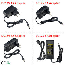 1 x AC 100V - 240V to DC 12V 1A 2A 3A 5A lighting transformer Switch Supply Power Adapter Converter Charger For LED Strip light(China (Mainland))