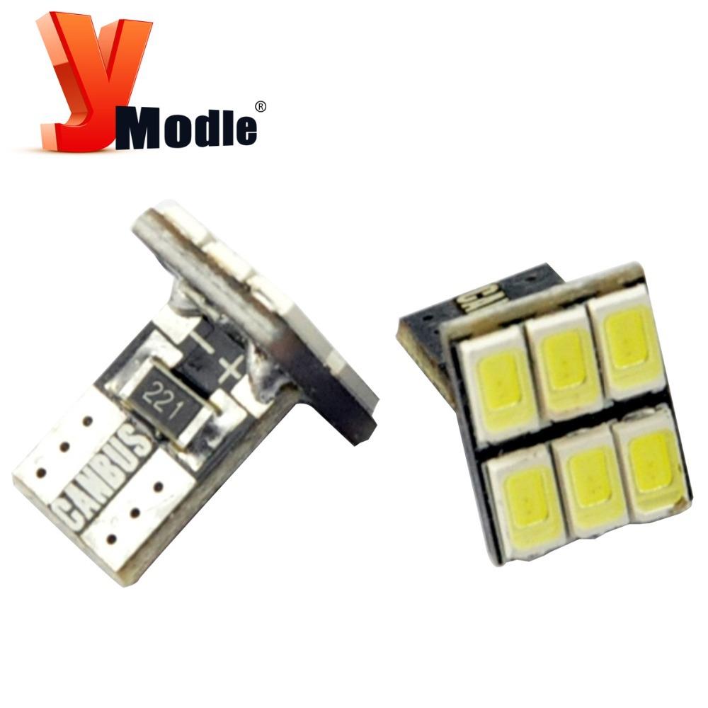 2pcs LED W5W 6 LED SMD5630 SMD5730 T15 158 168 194 LED Canbus Car Clearance Light Lamp Bulbs DC12V #YNB65(China (Mainland))