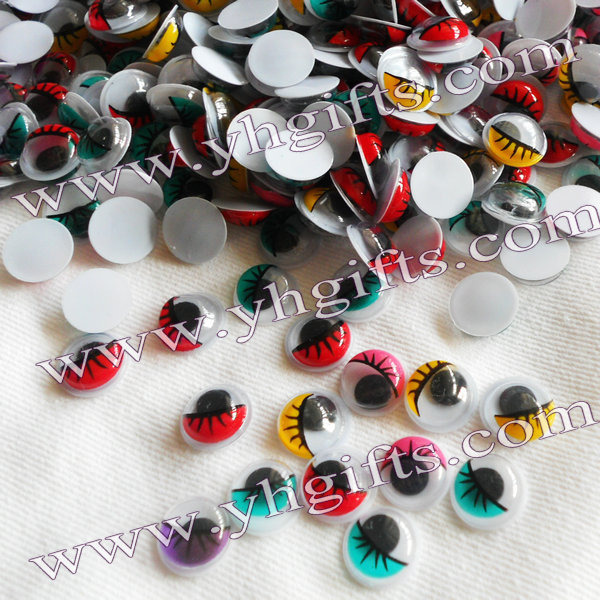 1000PCS/LOT.1CM 5 color Colorful eyeball,Pastic eyelash wiggle eye,Doll eyes, Craft work, DIY crafts Kids diy Freeshipping OEM(China (Mainland))