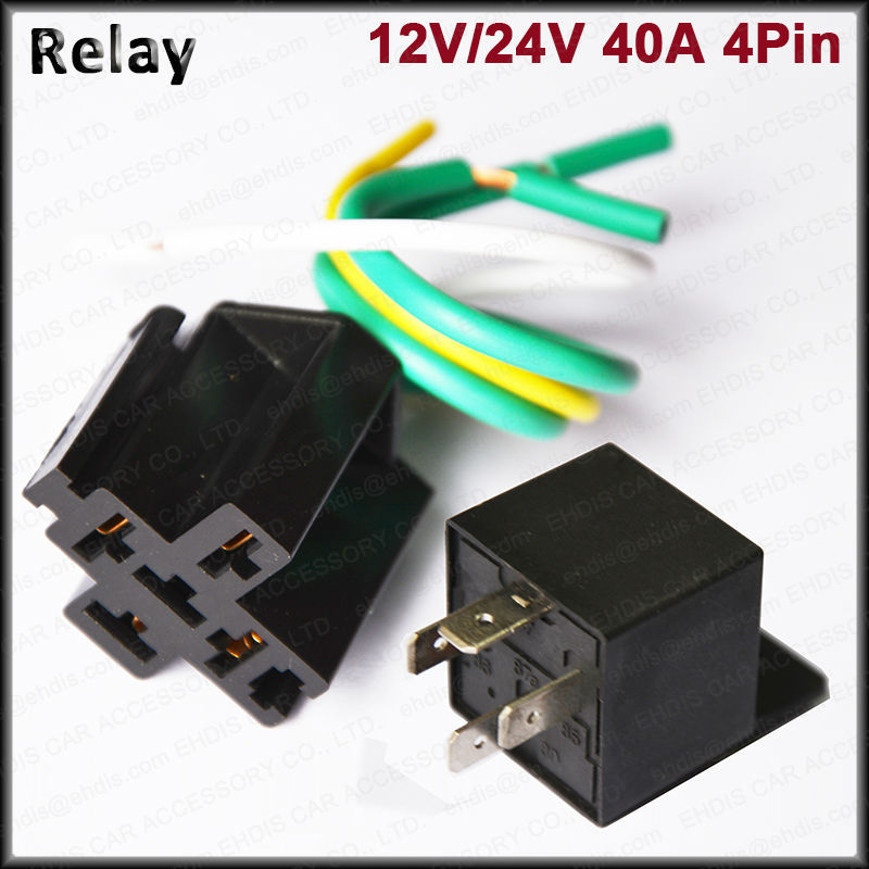 Auto High Power Electromagnetic Relay Timer C05S seT 12v/24v 40a 4 Pin Car Relay / Automotive relay with socket(China (Mainland))