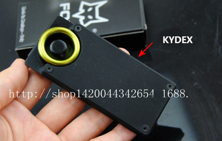 Buy Mini Fixed Blade Knife Pocket FOX Camping Survival Knives Hunting Tactical Knifes With Kydex Sheath Outdoor Tools Free Shipping cheap
