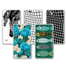 Buy Hot Sale Lovely Painting Hard Plastic Case Sony Xperia C4 E5333 E5303 E5306 funda Cover Sony Xperia C4 Case + Free Pen for $1.35 in AliExpress store