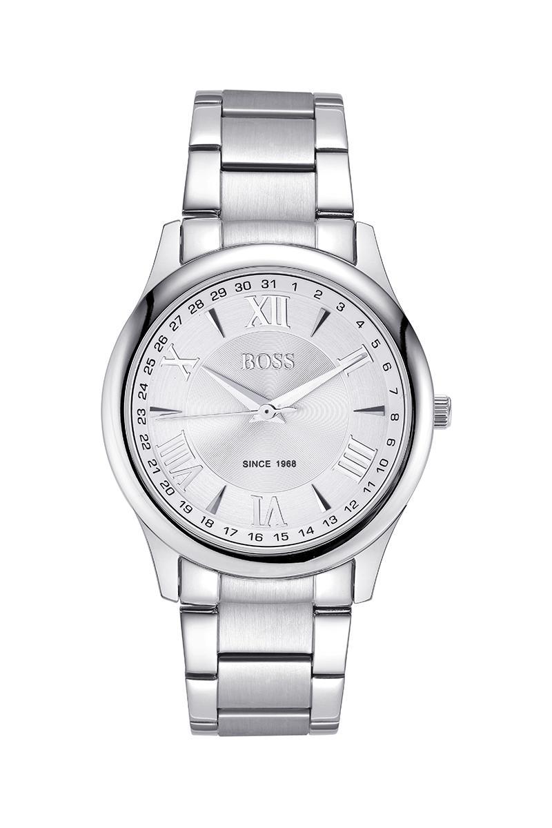 БОСС Германии часы мужчины люксовый бренд ультра-тонкий Япония импорт MIYOTA кварцевые часы из нержавеющей стали календарь рим белый
