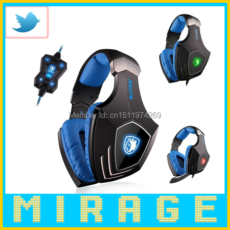High Quality SADES A-60 Vibration Function and 7.1 Surround Sound Professional Gaming Headphones Games Headset for Razer Gamer(China (Mainland))