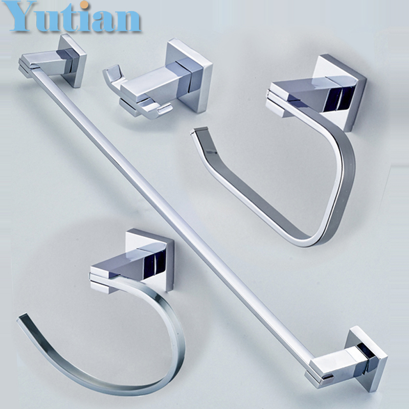 Buy Free Shipping 304 Stainless Steel Bathroom Accessories Set Robe Hook Paper