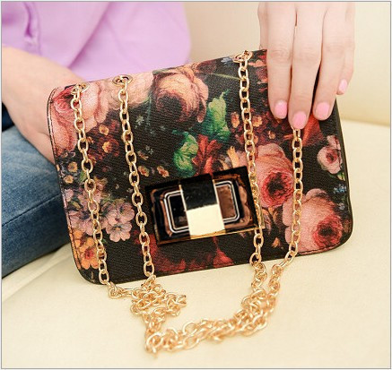New retro female clutch messenger bag canvas flowers grace handbag and elegance shoulder bag zc0071(China (Mainland))