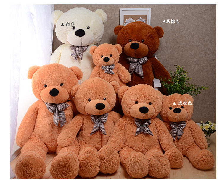 1m - 0.8m - 0.6m - Plush toys large size teddy bear / big embrace bear doll christmas gifts birthday gift toys for children(China (Mainland))