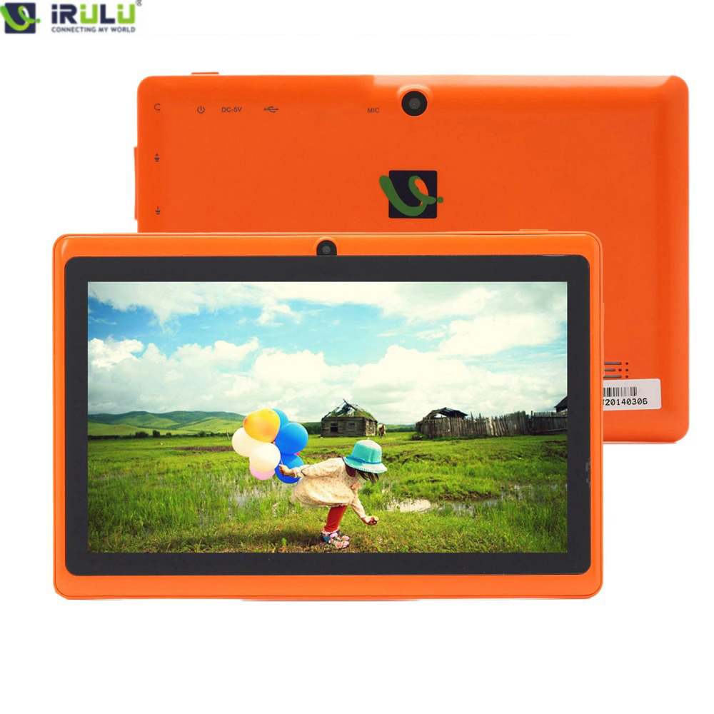 """IRULU eXpro X1 7"""" Tablet Android 8GB ROM Quad Core Dual Cameras 3G External 2015 High End Tablet Blue Orange Color Cheap(China (Mainland))"""