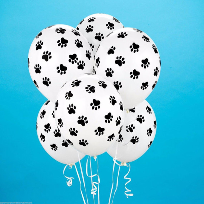 10P Dog Print Balloon Helium-Quality , Animal Lover's , Birthday , Wedding Favor Giant Latex Balloons(China (Mainland))