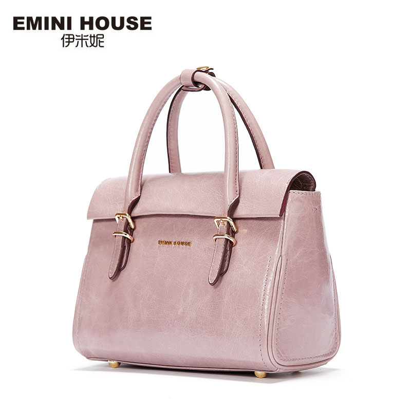 EMINI HOUSE New Design Oil Wax Genuine Leather Women Crossbody Bag Luxury Handbags Women Messenger Bags Fashion Shoulder Bags(China (Mainland))