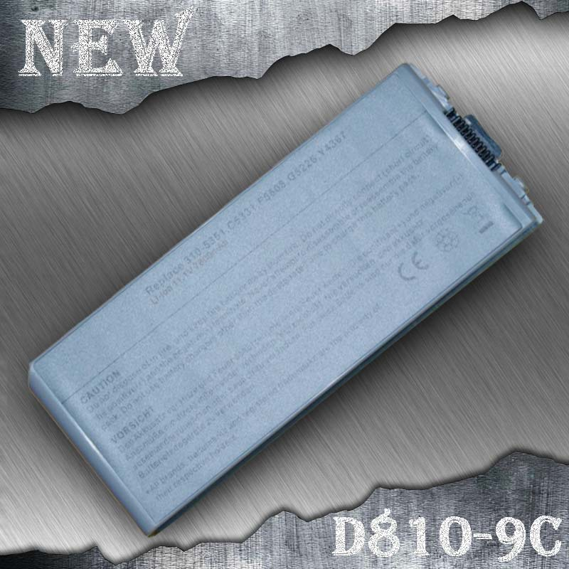 9 cells Laptop Battery For Dell Latitude D810 Precision M70 C5331 C5340 D5505 D5540 F5608 G5226 Y4367 310-5351 312-0279(China (Mainland))