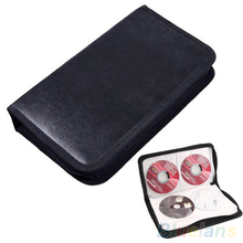 80 Disc CD Holder DVD Case Storage Wallet VCD Organizer Faux Leather Bag 26TY 6JDT(China (Mainland))