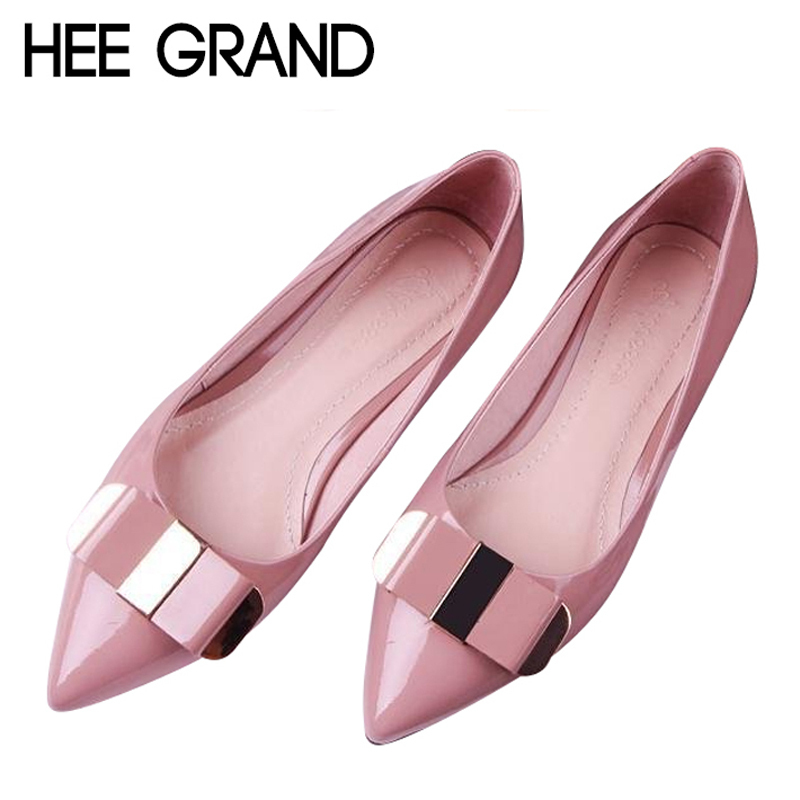Elegant Patent Leather Ballet Flats Fashion Bling Pointed Toe OL Women Work Shoes Slip On Ladies Shoes Woman 3 Colors XWD2369<br><br>Aliexpress
