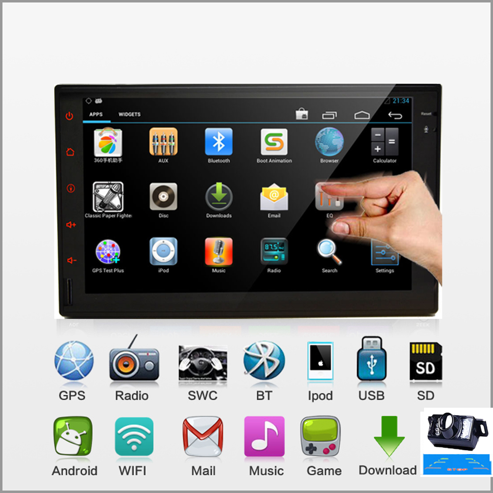 Pure Android 4.2 Capacitive Screen 2DIN Car PC Stereo Audio In dash GPS Car Radio Video No-DVD Player Bluetooth Wifi MP3+Camera(China (Mainland))
