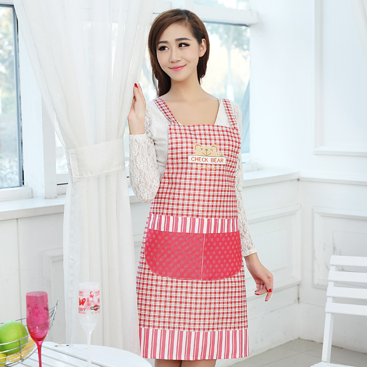 Little bear kitchen cooking apron christmas cute kitchen aprons cooking aprons for women(China (Mainland))