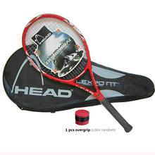 Высокое Качество Углеродного Волокна Теннисные Ракетки Ракетки оснащен Мешок Теннис Grip Размеры 4 1/4 raquetas де теннис Бесплатная Доставка(China (Mainland))