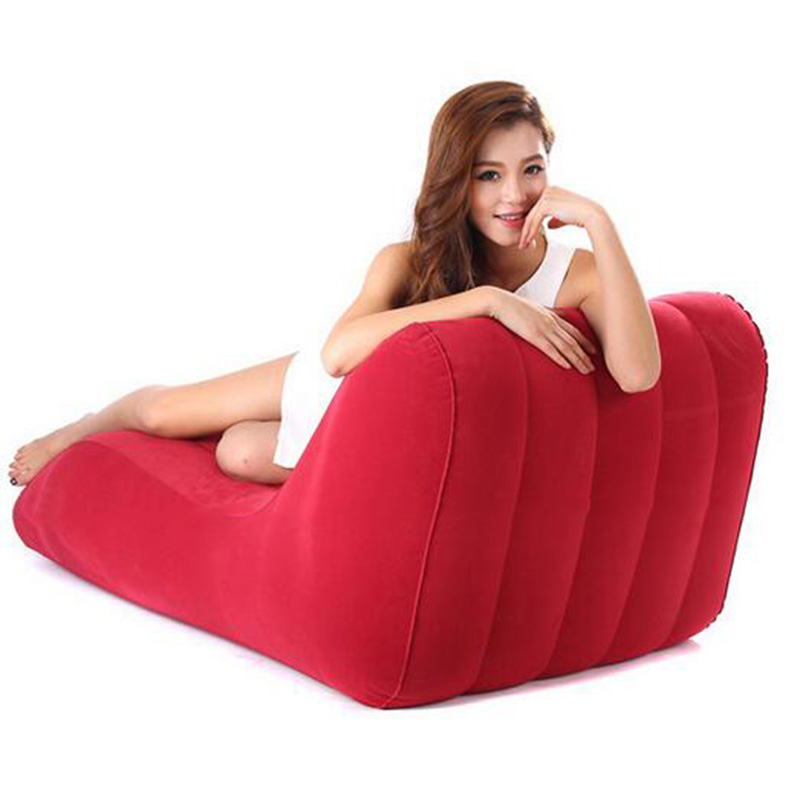 Hot Sale S Shape Inflatable Sofa Bed Home Living Room