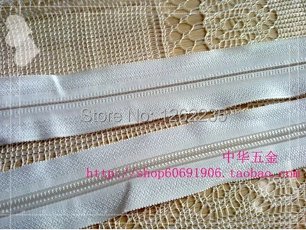 Color reinforced nylon zipper 3 # Black White DIY handmade jewelry, luggage hardware accessories Wholesale(China (Mainland))