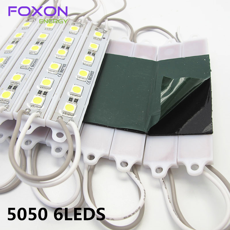 100PCS/Lot SMD 5050 6LED/pcs single color Module 12V waterproof  led modules,white/warm white/red/blue/green,Free shipping<br><br>Aliexpress