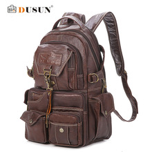 2016 The New Large Capacity PVC Material College Vintage Shoulder Women's Backpack Students Travel Computer Leather Bag Mochilas(China (Mainland))