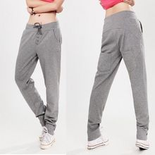 New 2016 Sport Pants Women Cotton Sports Pants Casual Loose Thin Trousers Long Women's Harem Pants Pencil Pants For Activ(China (Mainland))