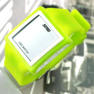 Fashion watches blue led electronic watch waterproof unisex fashion watch