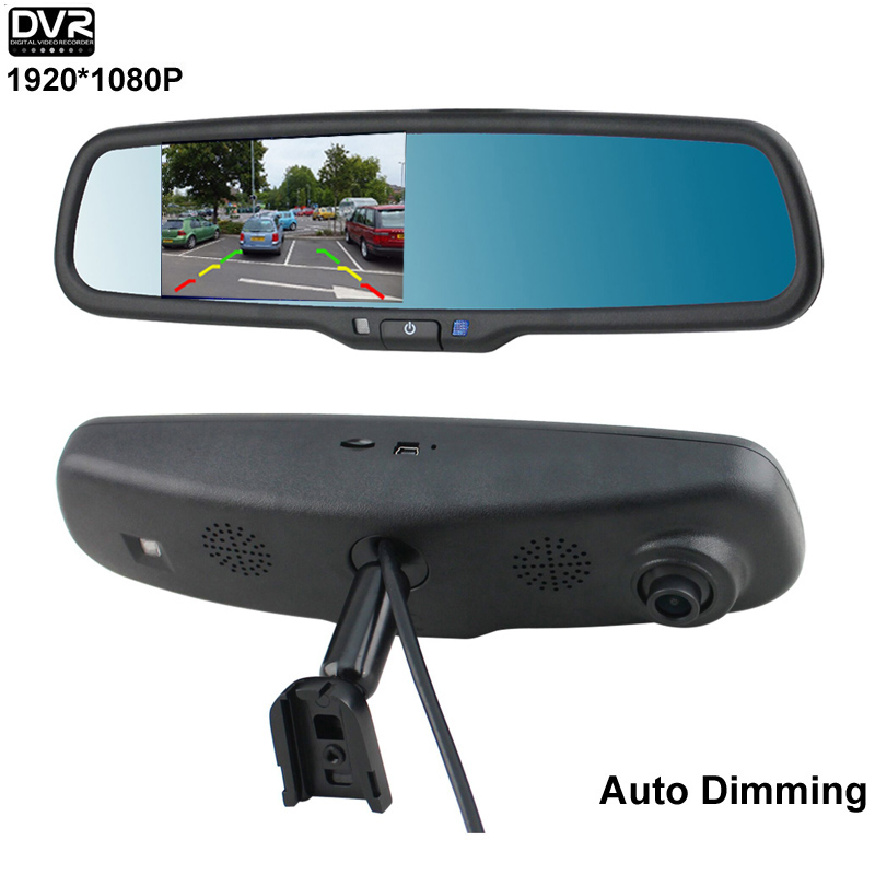 """4.3"""" Special Bracket For Toyota Honda Auto Dimming Car Rear View Mirror Monitor HD 1920*1080P DVR Camera(China (Mainland))"""