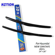 "Buy Car Windshield Wiper Blade Hyundai NEW SANTA FE (2015+),14""+26"",Natural rubber, Three-segmental type, Car Accessories for $16.17 in AliExpress store"
