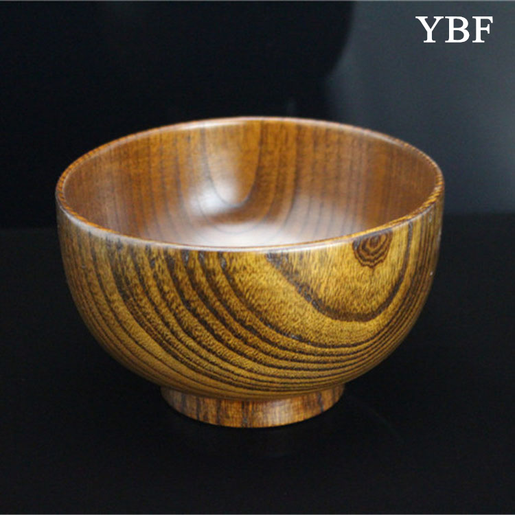 13.5cm Wild jujube wood Large Soup Bowls tableware orange wave texture noodle soup rice thermos food marmita lunch box - YBF Commodity store