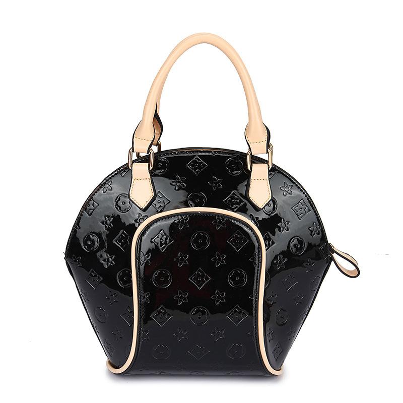 Fashion Shell Bags Women PU Leather Handbag Floral Casual Women Messenger Bags Orange Women Bags Bolsos Autumn 2015 NEW BH696(China (Mainland))