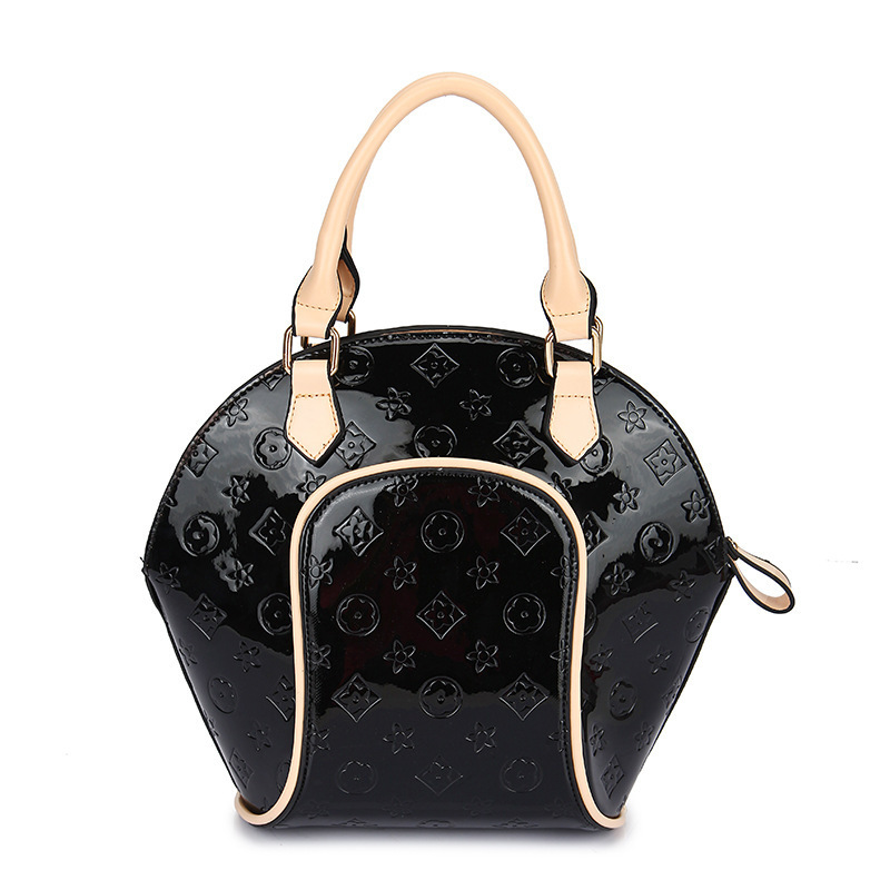 Fashion Shell Bags Women PU Leather Handbag Floral Casual Women Messenger Bags Orange Women Bags Bolsos Autumn 2015 NEW BH696(China (Mainland))