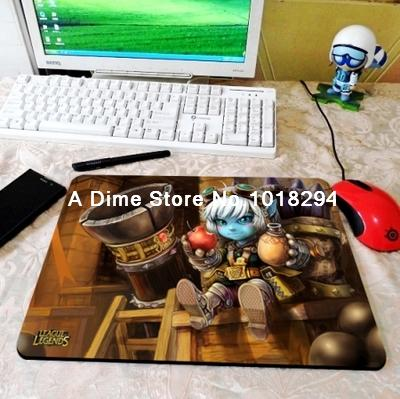 lol mouse pad Megling Gunner Tristana mousepad laptop Legends mouse pad razer notbook computer gaming mouse pad gamer play mats(China (Mainland))