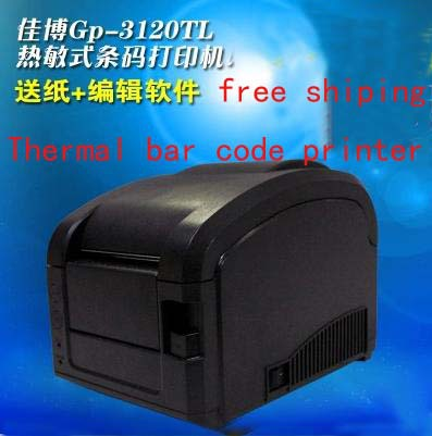 Bar code printer jia bo GP - 3120 tl the non-drying label printing garment tags barcode machine(China (Mainland))