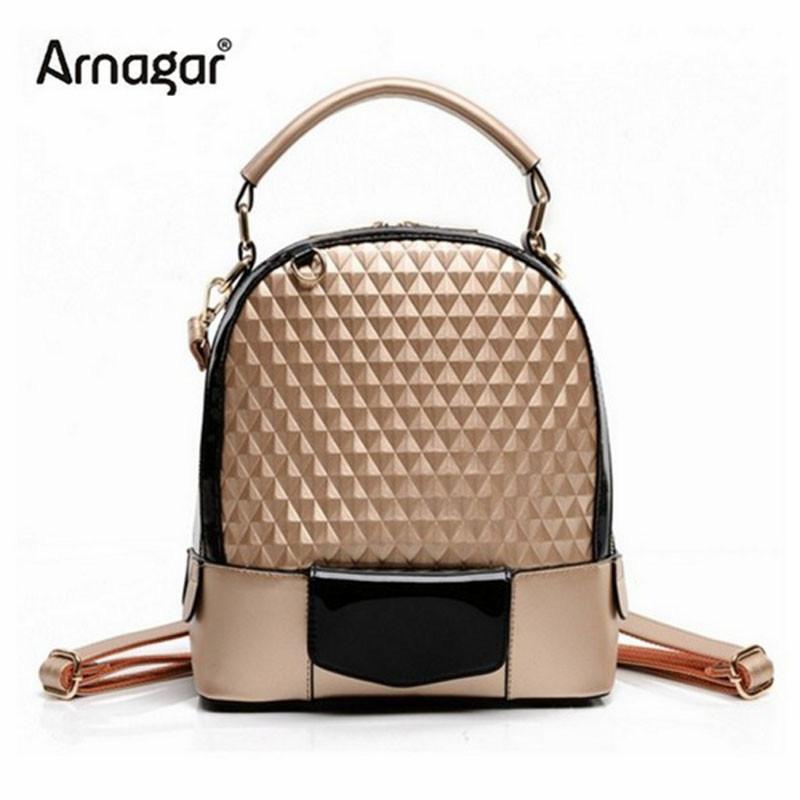 2015 Fashion Korean style women backpack female leather travel college bag Vintage high-quality school shoulder bags mochila<br><br>Aliexpress