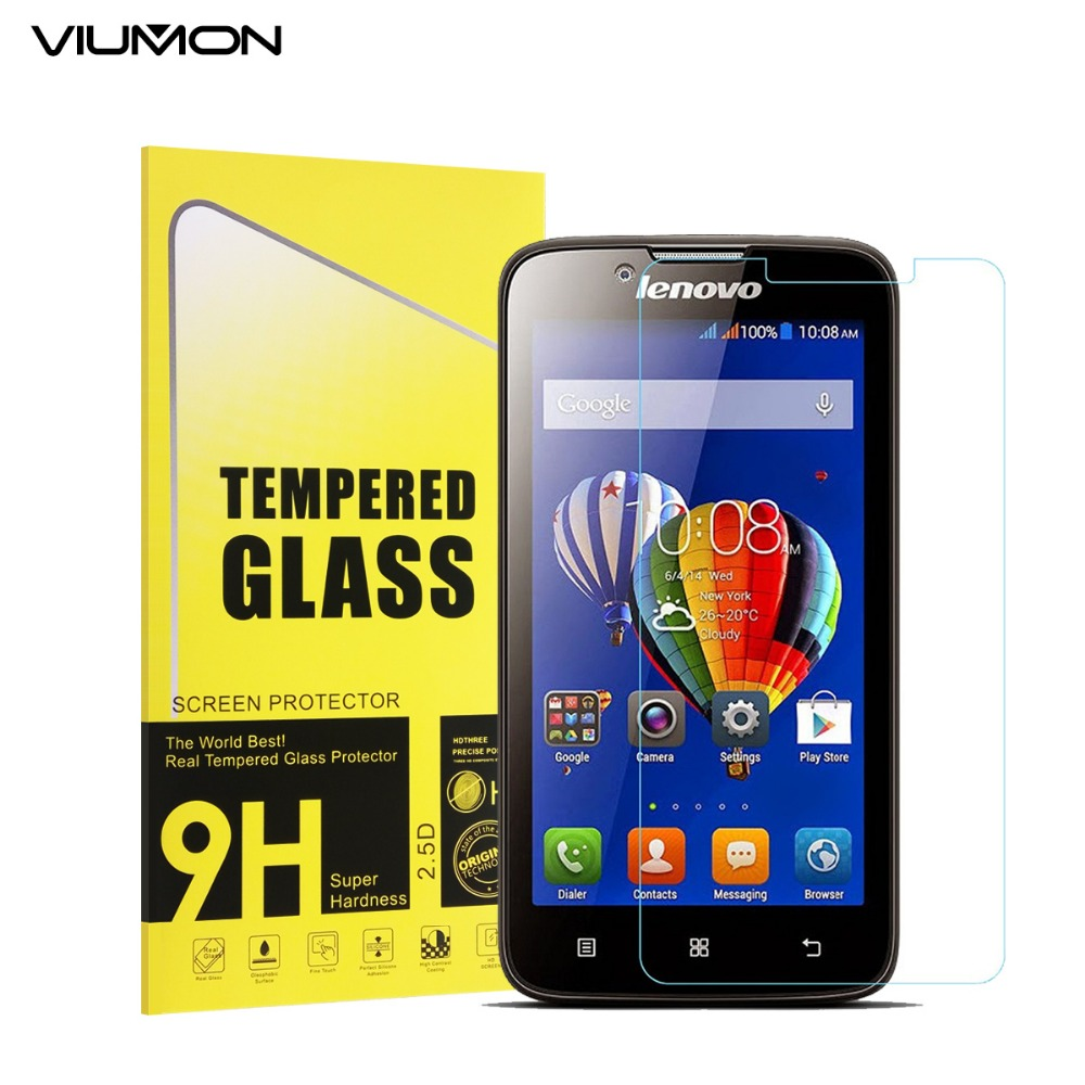 Lenovo A328 A328T 328 Tempered Glass 9H 2.5D Safety Protective Glass Film Screen Protector Retail Box Tools