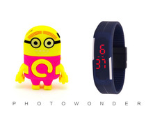 Buy Wholesale 2 pcs (1 set) Cute Despicable Minion Mp3 Music LED Watch Player TF Slot Running Leisure. for $4.50 in AliExpress store